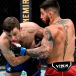 【UFC264】あぁライアン・ホール……。前転戦法にトプリアの鉄槌炸裂、パウンドアウトされる