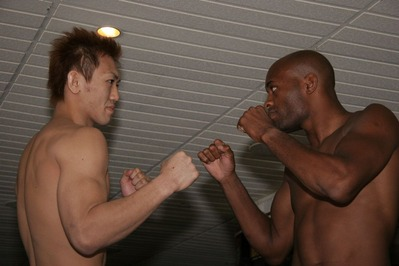 Okami vs Anderson at weigh in